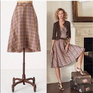 Anthro Odille Tales of Yesterday Circle Skirt sz 6